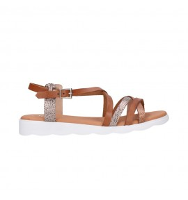 OH MY SANDALS 4305 roble Mujer Cuero