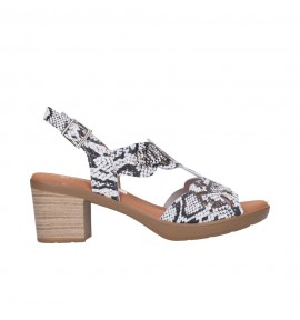 OH MY SANDALS 4689 REPTILE BLANCO Mujer Blanco